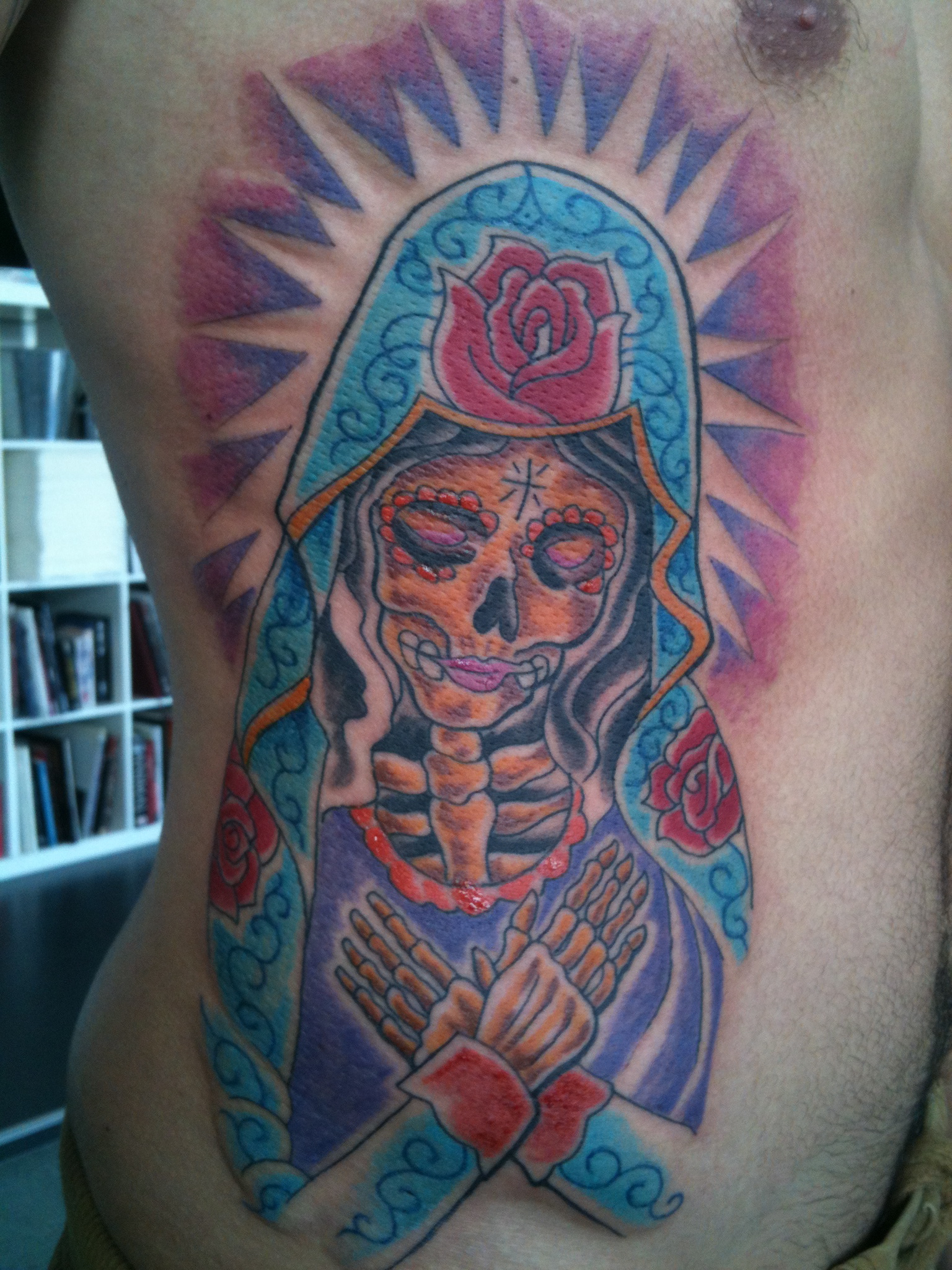 Irish street tattoo virgin mary mexican style irish st for Mexican style tattoos