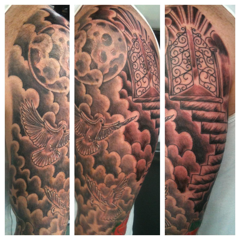 Irish Street Tattoo Heavens Gates Tattoo Irish St Tattoo