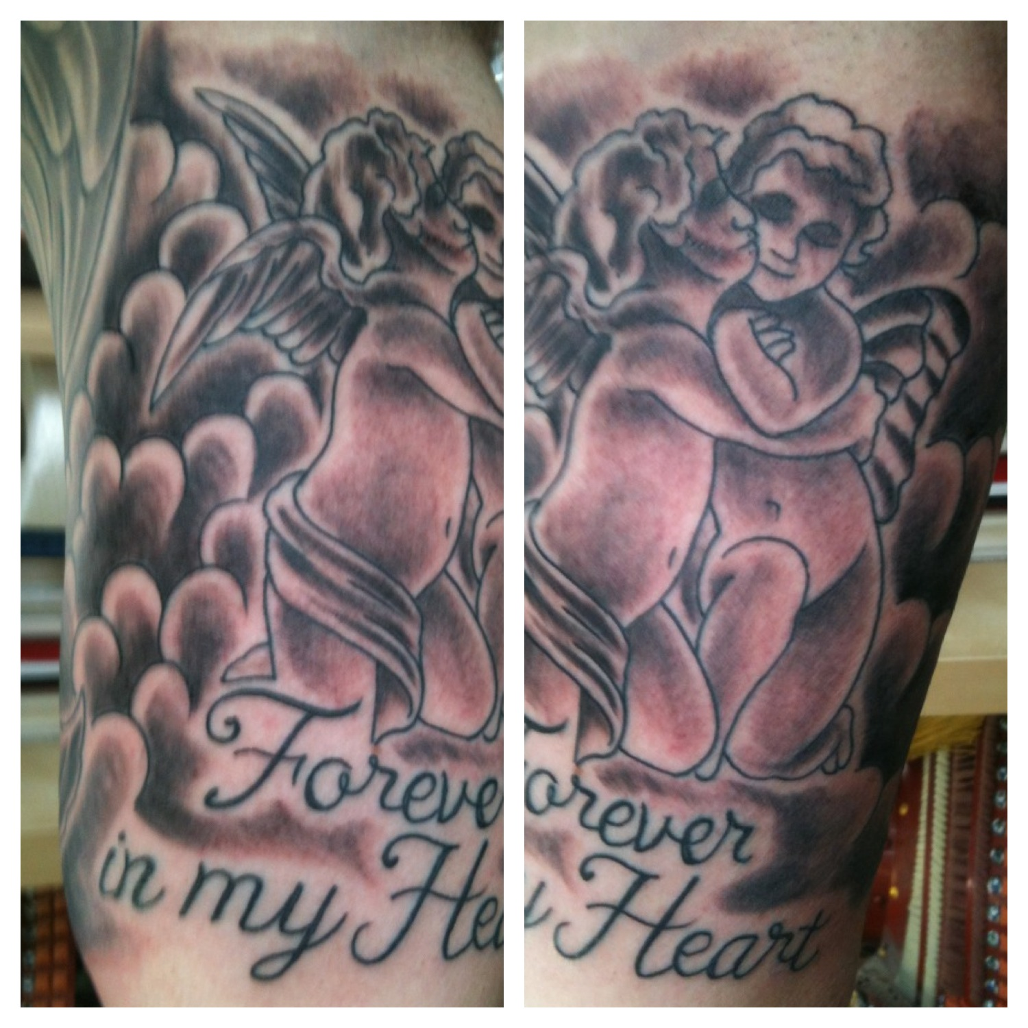 Irish Street Tattoo Forever In My Heart Tattoo Irish St Tattoo