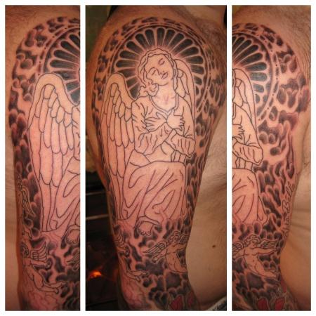 Angel sleeve started.