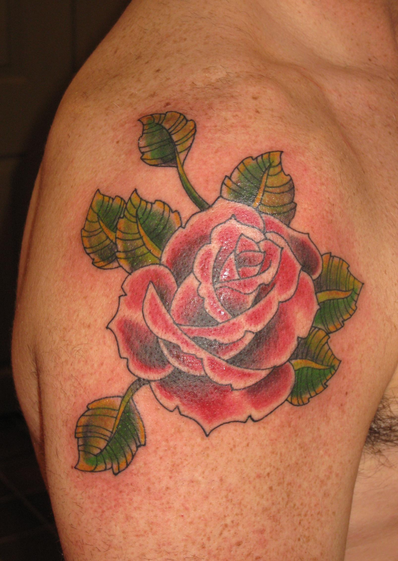 irish street tattoo old school rose