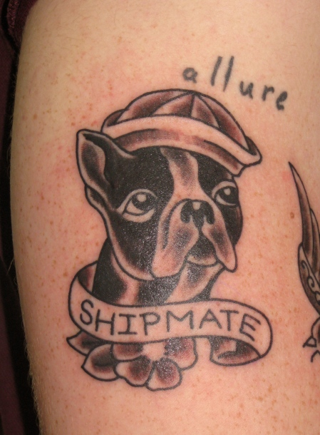 liverpool french bulldog tattoo