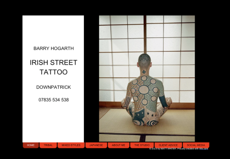 The new website is up and running. Find it here- http://www.irishstreettattoo.com