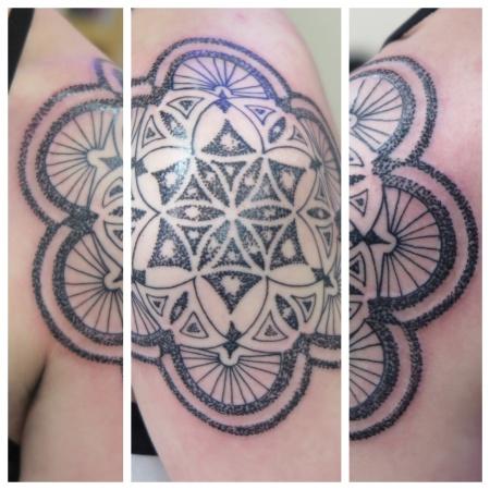 dot shaded irish street tattoo downpatrick