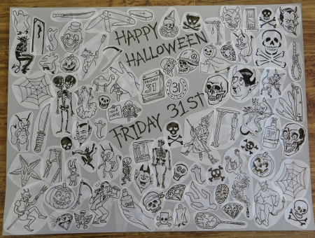 For Halloween 2014 I have drawn up a Friday 31st flash sheet priced at £31 each.