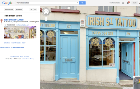 You can now check out the insides of my studio. Search for- Irish Street Tattoo -on Google Maps.