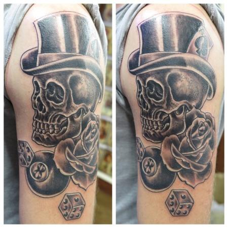 skull top hat irish street tattoo downpatrick belfast