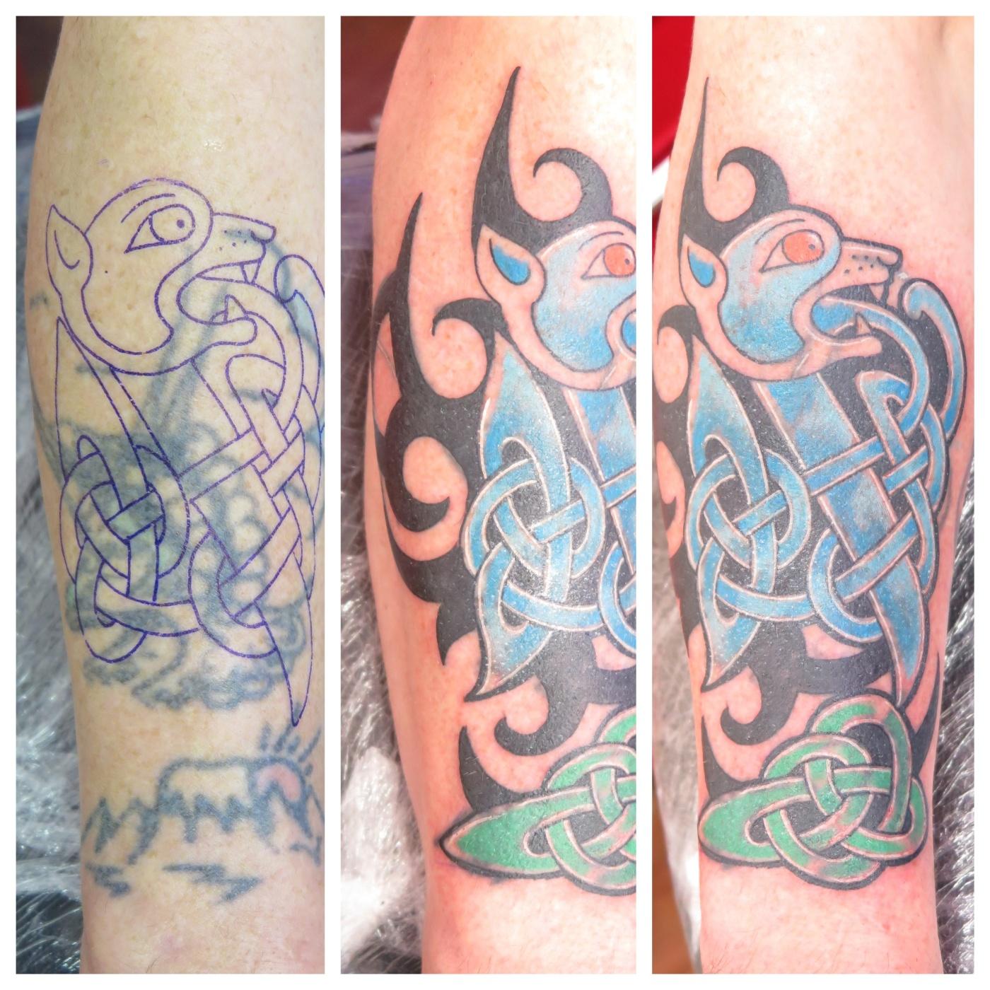 Irish Street Tattoo Celtic Cover Up Irish St Tattoo