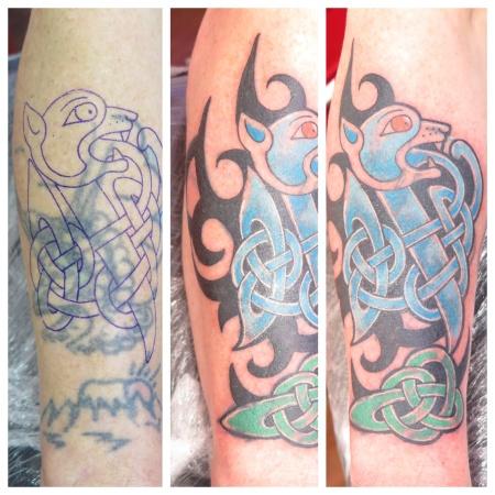 celtic cover up tattoo irish street belfast downpatrick