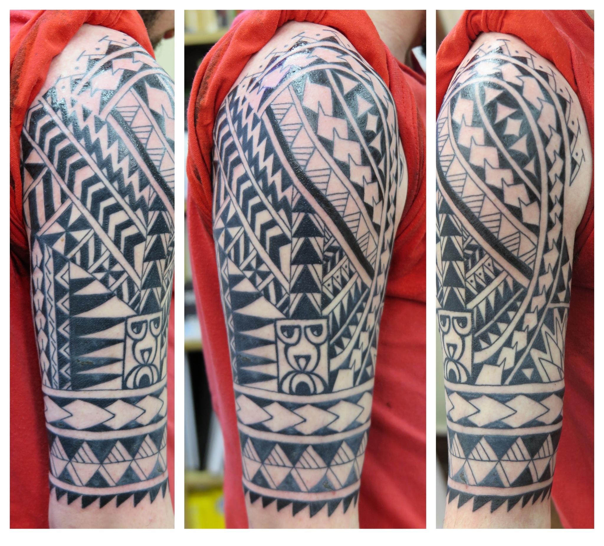 5f415cb1d irish street tattoo belfast polynesian downpatrick tribal maori freehand  sleeve