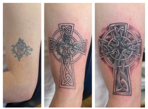 celtic cross cover up tattoo downpatrick