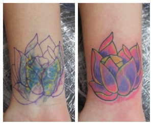 flower lotus cover tattoo downpatrick