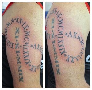 numerals infinity tattoo downpatrick