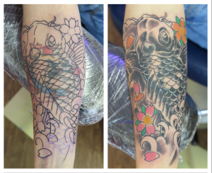 koi carp cover up tattoo downpatrick