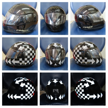 helmet reflective sticker tape scotchlite motorcycle motor bike forum safety hi vis diy