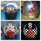 helmet reflective tape scotchlite motorcycle motor bike forum safety hi vis diy 4