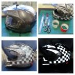 helmet reflective tape scotchlite motorcycle motor bike forum safety hi vis diy 6