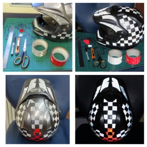 helmet reflective tape scotchlite motorcycle motor bike forum safety hi vis diy 8